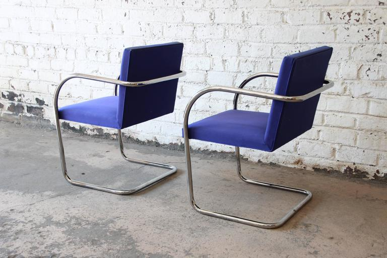 American Pair of Mies van der Rohe Brno Chairs for Knoll International