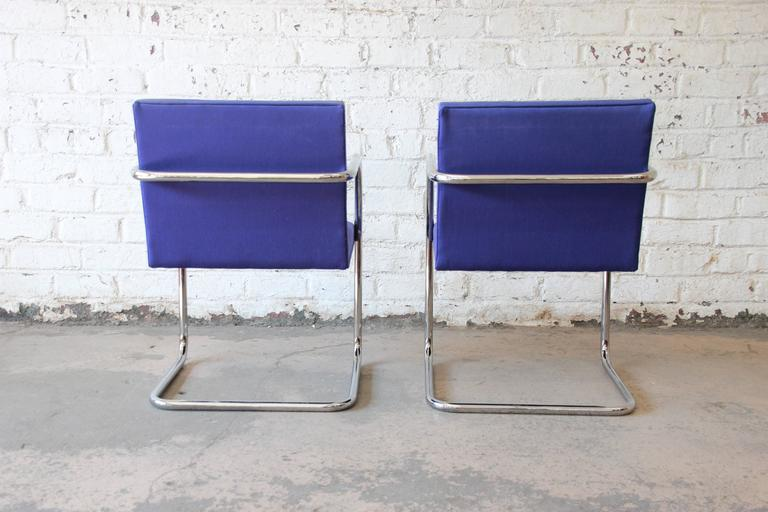 Plated Pair of Mies van der Rohe Brno Chairs for Knoll International