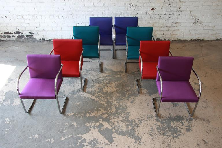 Pair of Mies Van Der Rohe Brno Chairs for Knoll International 3