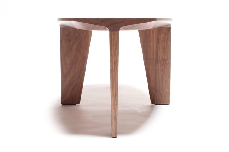 Keels contemporary coffee or cocktail table in walnut for Custom made furniture san francisco