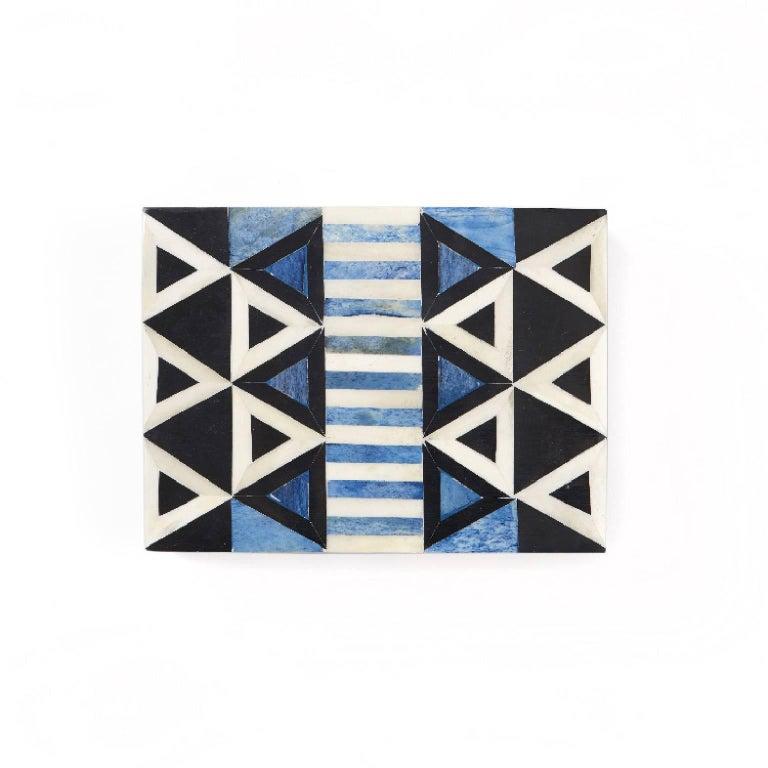 Modern Okapi Bone Inlay Decorative Box For Sale