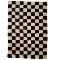 Aelfie Checkerboard Shag Hand-Knotted Rug Carpet