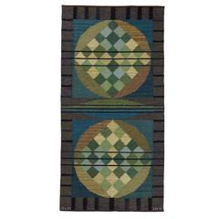 20th Century Vintage Flat-Weave Carpet from Sweden