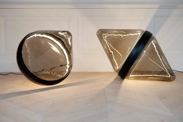 Hollow by Dan Yeffet, Contemporary Floor Lamps Made in Blown Glass In New Condition For Sale In London, GB