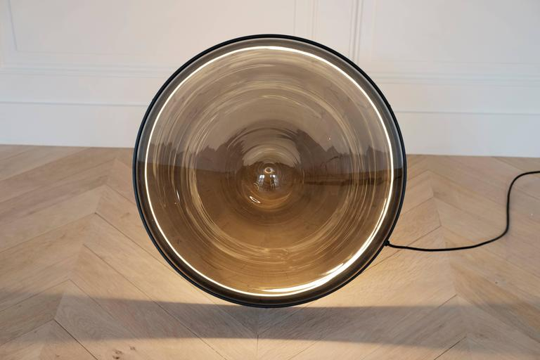 Hollow by Dan Yeffet, Contemporary Floor Lamps Made in Blown Glass For Sale 1