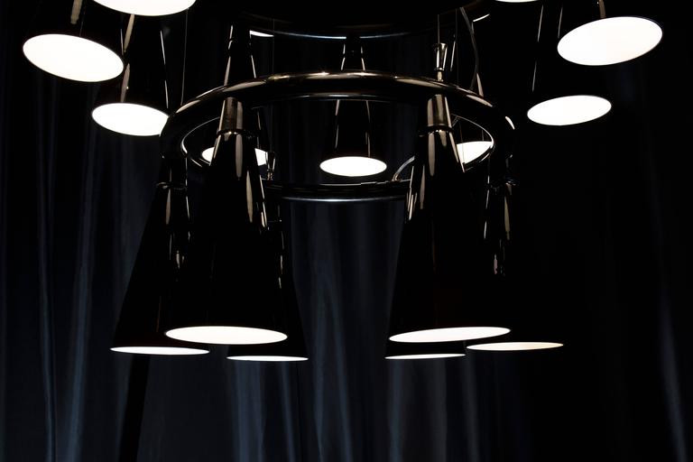 Komori R6 by Nendo, Chandelier Reminiscent of Bats, Murano Glass In New Condition For Sale In London, GB