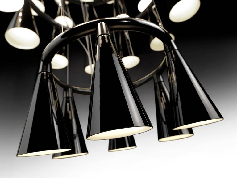 Italian Komori R6 by Nendo, Chandelier Reminiscent of Bats, Murano Glass For Sale