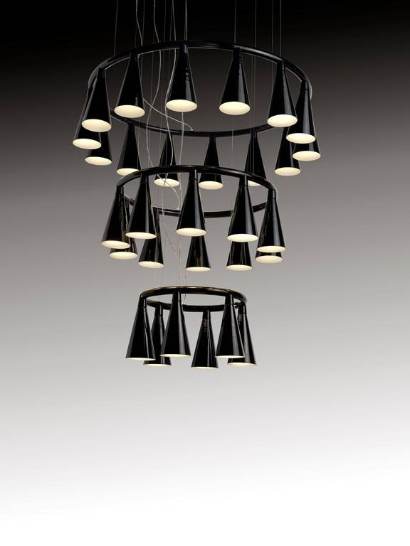 Contemporary Komori R6 by Nendo, Chandelier Reminiscent of Bats, Murano Glass For Sale
