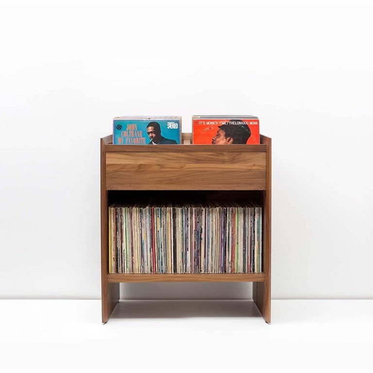 Modern Unison Vinyl Record Storage Cabinet in Natural Ash For Sale
