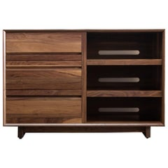 Modern Media Console Entertainment Cabinet with Drawers, in Stock
