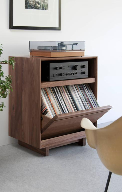 Modern Record Stand And Lp Storage Entertainment Cabinet
