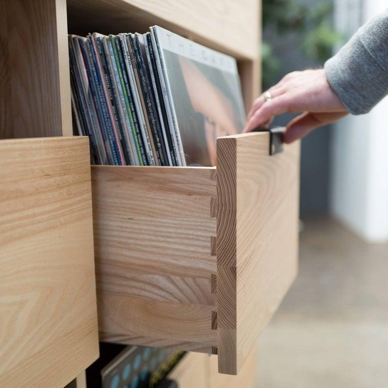 Modern Dovetail 3 x 2 Vinyl Storage Cabinet For Sale