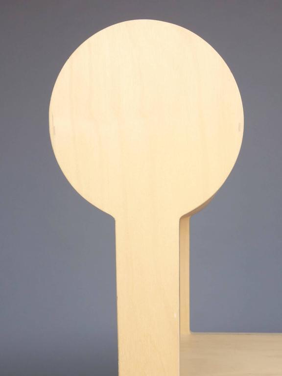 Waka zeitgenössischer Zylinder wieder Holz Mini Akzent Stuhl 4