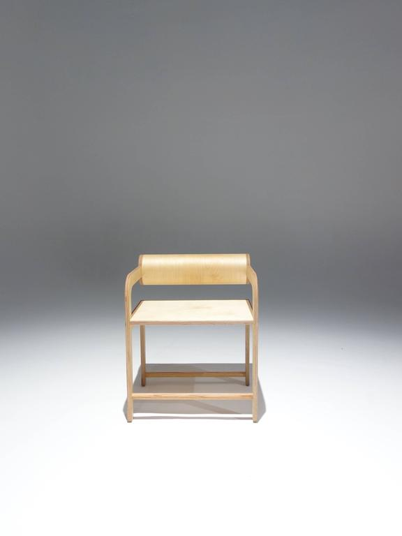 Waka Waka Zeitgenössischer Holz Zylinder Rücken Akzent Sessel 2