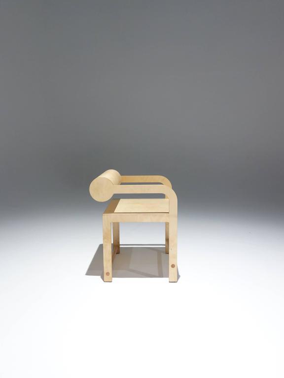 Waka Waka Zeitgenössischer Holz Zylinder Rücken Akzent Sessel 3