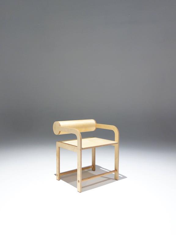 Waka Waka Zeitgenössischer Holz Zylinder Rücken Akzent Sessel 4