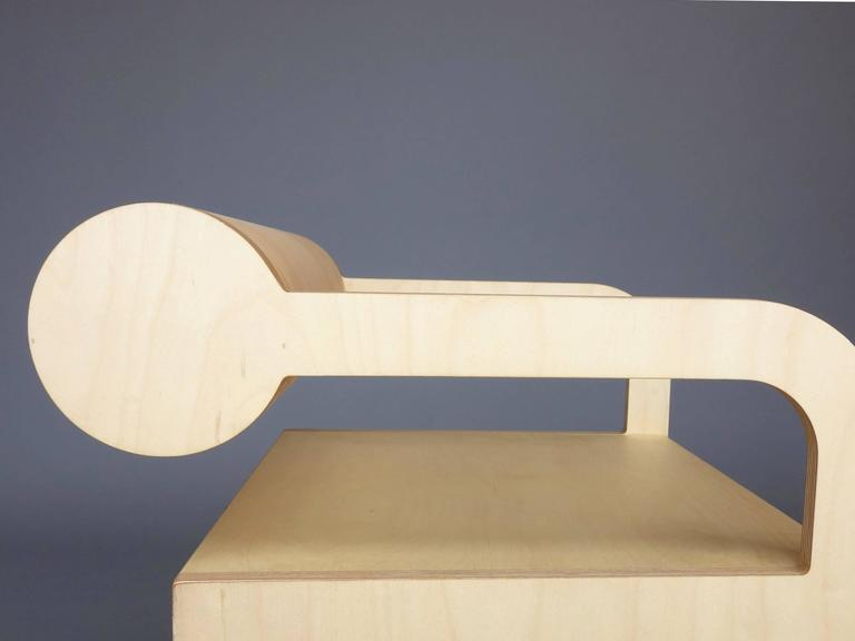 Waka Waka Zeitgenössischer Holz Zylinder Rücken Akzent Sessel 5