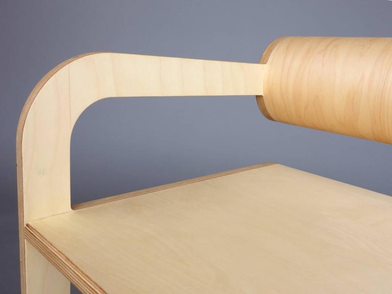 Waka Waka Zeitgenössischer Holz Zylinder Rücken Akzent Sessel 6