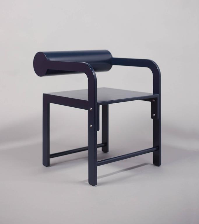 Waka Waka Zeitgenössischer Holz Zylinder Rücken Akzent Sessel 8