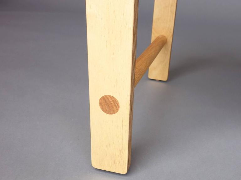 Waka zeitgenössischer Zylinder wieder Holz Mini Akzent Stuhl 5