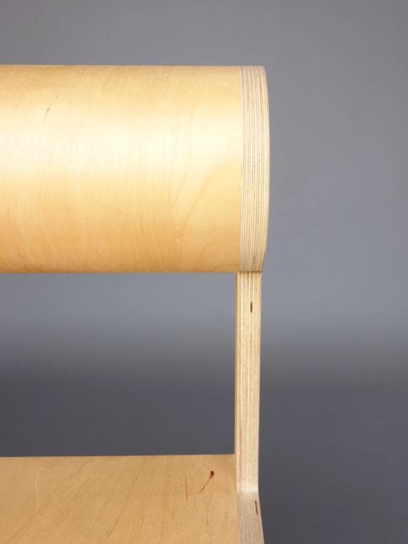 Waka zeitgenössischer Zylinder wieder Holz Mini Akzent Stuhl 7