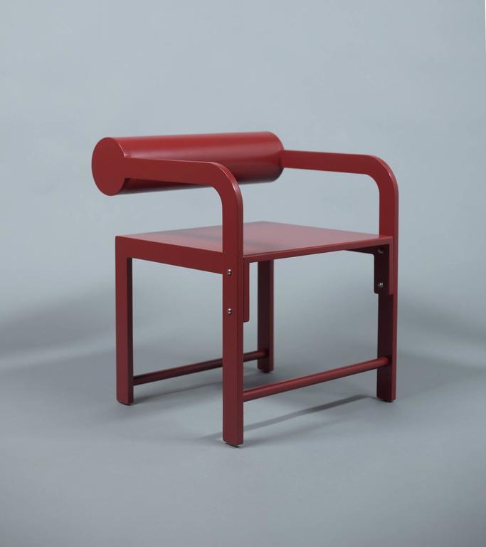 Waka Waka Zeitgenössischer Indigoblau Lackierter Stuhl mit Zylinderlehne 5