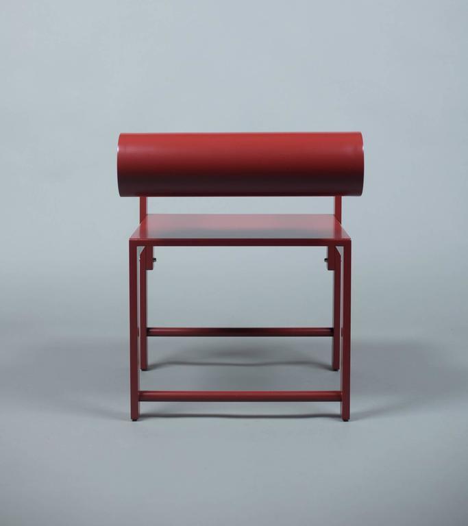 Waka Waka Zeitgenössischer Indigoblau Lackierter Stuhl mit Zylinderlehne 7