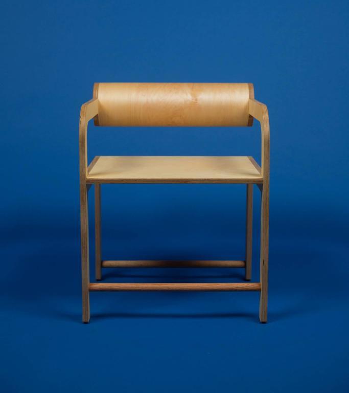 Waka Waka Zeitgenössischer Indigoblau Lackierter Stuhl mit Zylinderlehne 10