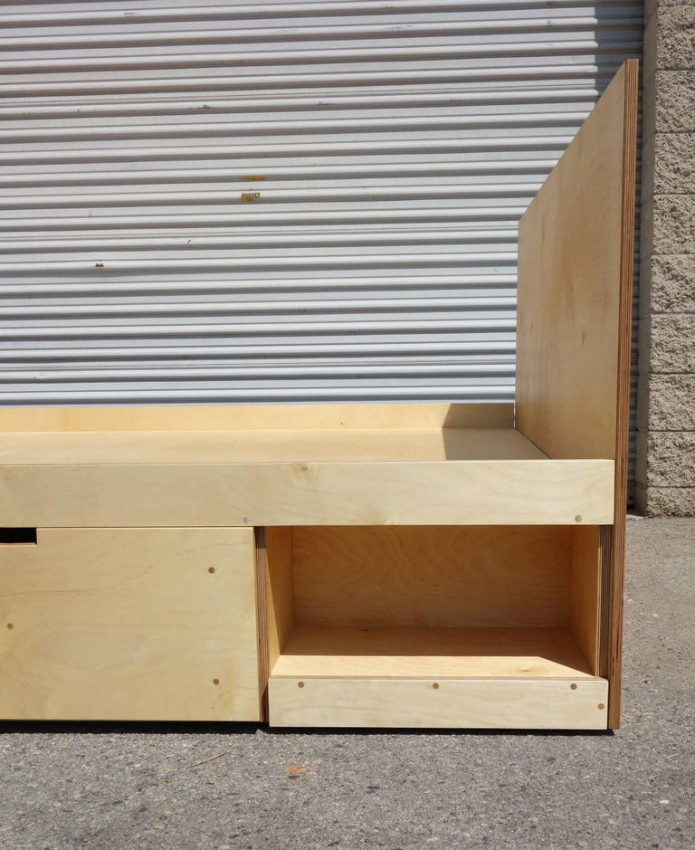 Post-Modern Waka Waka Contemporary Plywood Box Bed with Storage For Sale
