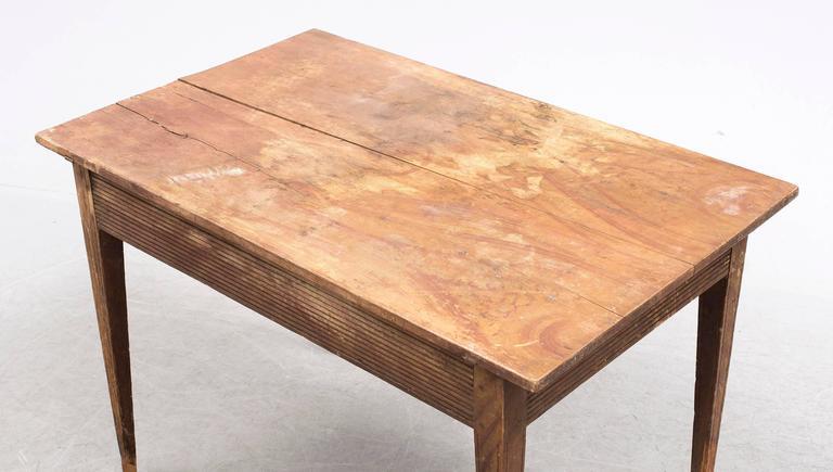 18th Century Swedish Folk Art Table 4