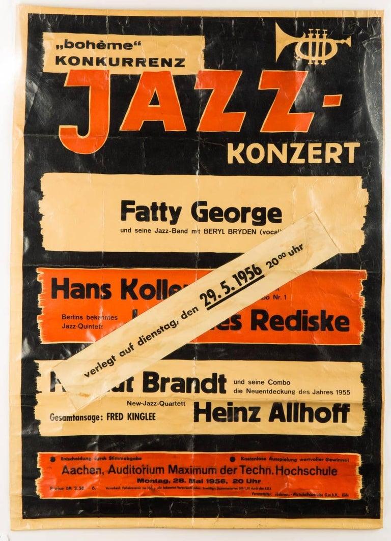 Pair of Original Modern Design Jazz Concerts Posters at 1stdibs