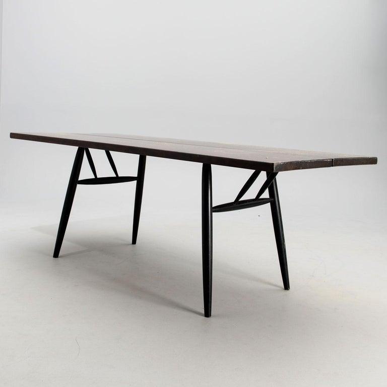 Finnish Ilmari Tapiovaara Midcentury Large Finish Pirkka Table by for Laukaan Puu For Sale
