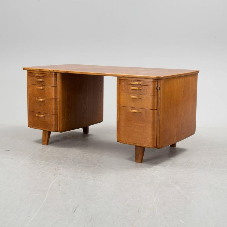 Swedish Art Deco Desk and Swivel Chair by Gunnar Ericsson for Facit Atvidaberg For Sale 1