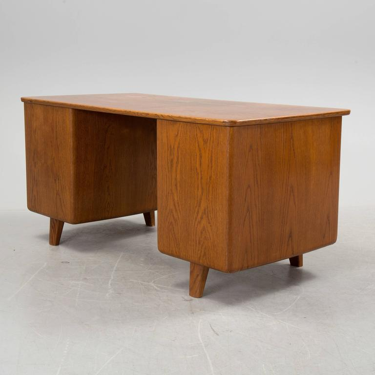 Swedish Art Deco Desk and Swivel Chair by Gunnar Ericsson for Facit Atvidaberg For Sale 2