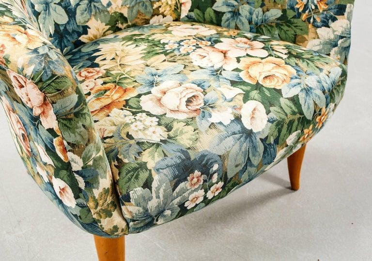 Scandinavian Modern Kerstin Horlin Holmquist Pair of Lounge Chairs Model Little and Large Adam For Sale