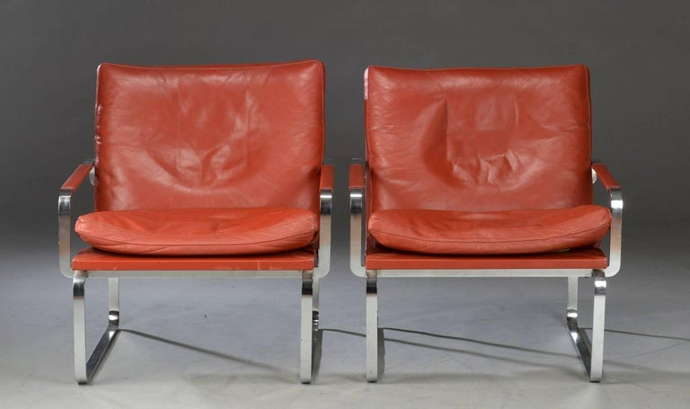 Pair of Danish Lounge Chairs by Jørgen Lund & Ole Larsen for Bo-Ex 1