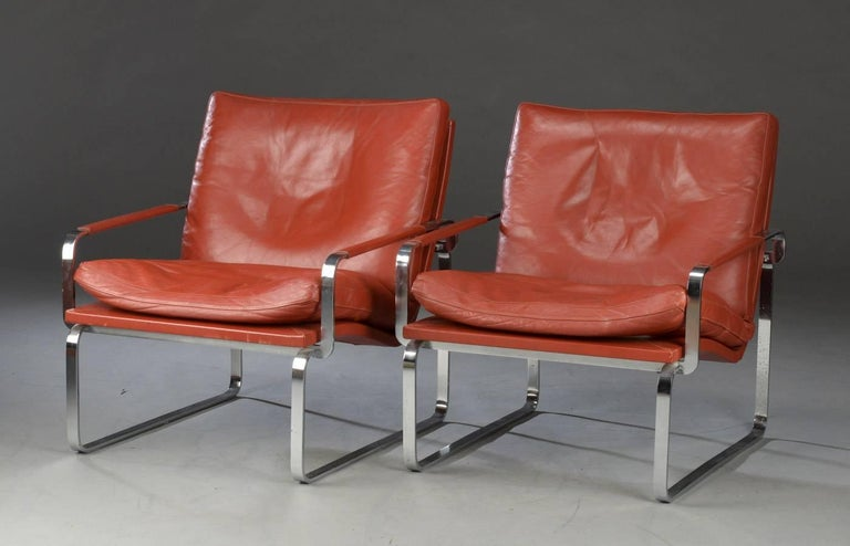 Scandinavian Modern Pair of Danish Lounge Chairs by Jørgen Lund & Ole Larsen for Bo-Ex