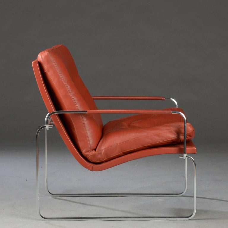20th Century Pair of Danish Lounge Chairs by Jørgen Lund & Ole Larsen for Bo-Ex