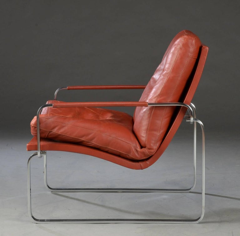 Pair of Danish Lounge Chairs by Jørgen Lund & Ole Larsen for Bo-Ex In Good Condition In Madrid, ES