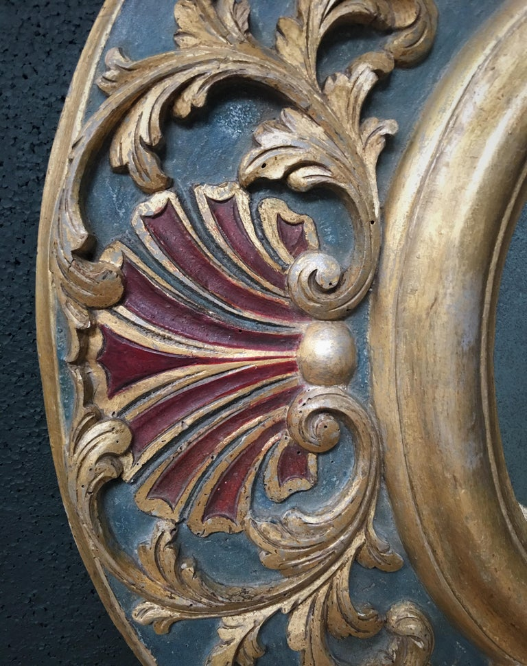 Pine 19th Century Carved Wood Gothic Style Mirror For Sale