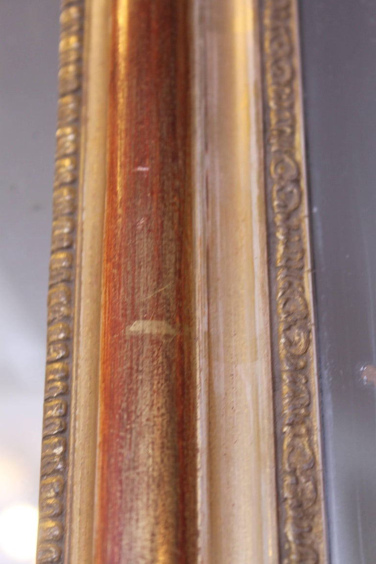 Wood 19th Century French Giltwood Mirror For Sale