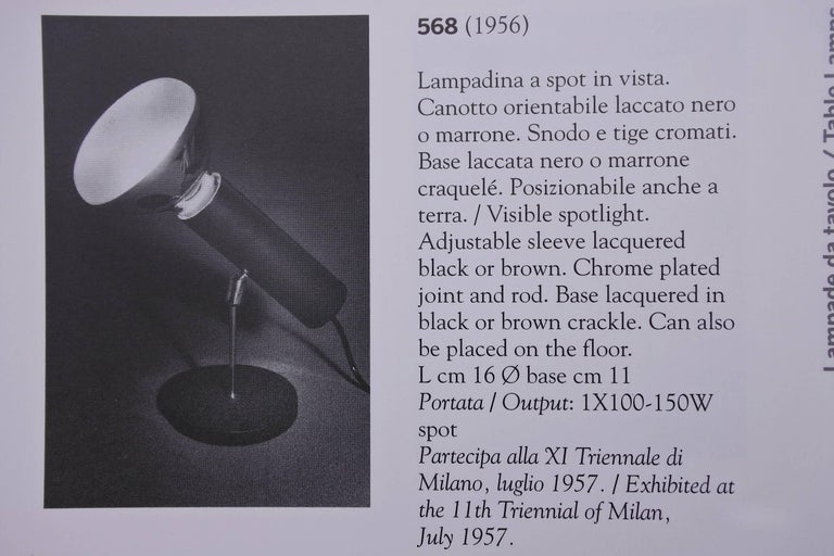 Gino Sarfatti Table Lamp 568 Edited by Arteluce, 1956, Italy For Sale 3
