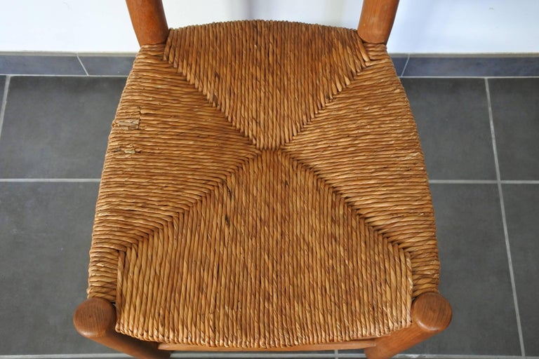 Charlotte Perriand Midcentury Bauche Chair No 19, France, 1950s 9