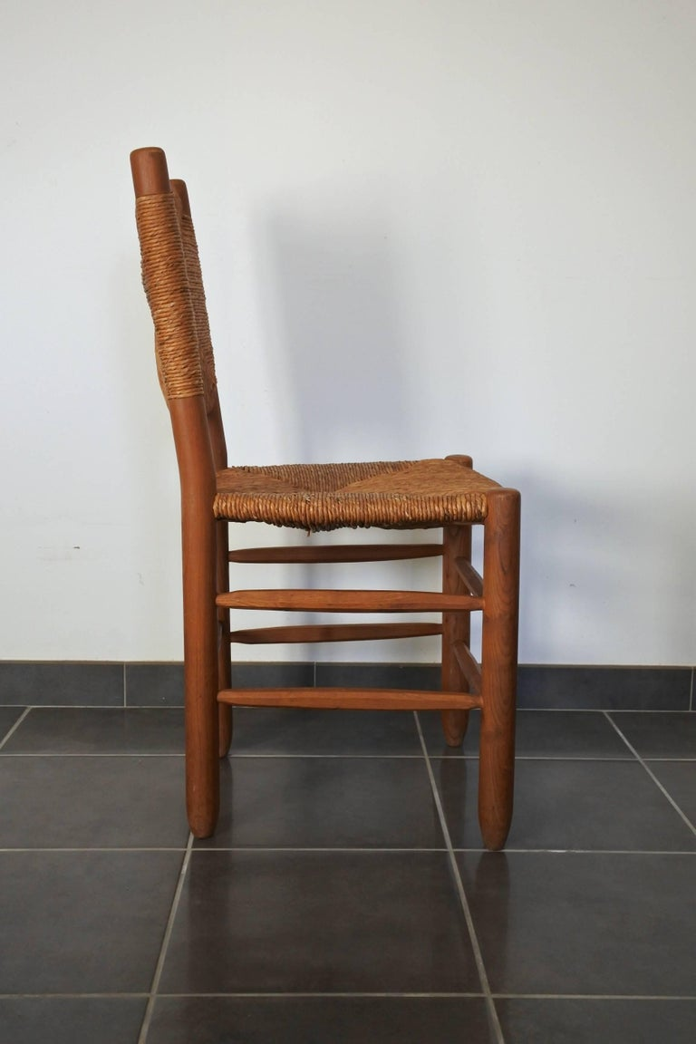 Mid-Century Modern Charlotte Perriand Midcentury Bauche Chair No 19, France, 1950s For Sale