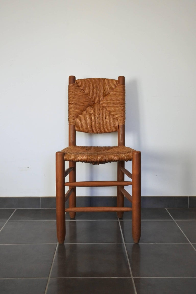 Charlotte Perriand Midcentury Bauche Chair No 19, France, 1950s 2