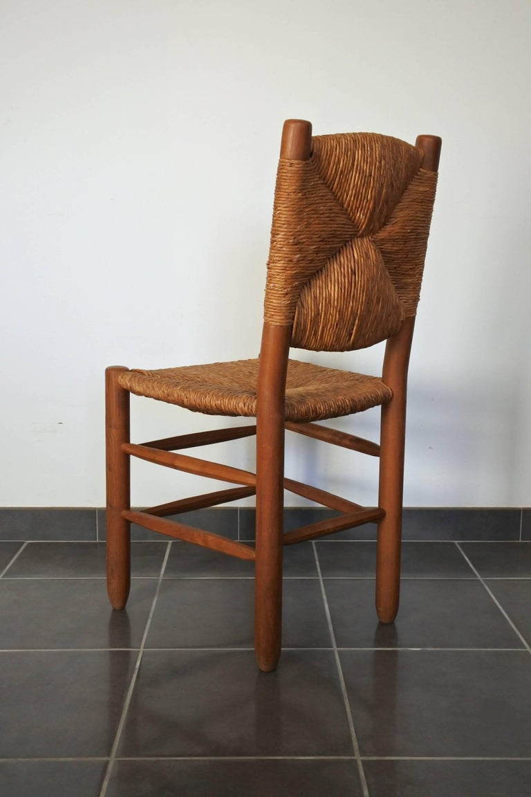French Charlotte Perriand Midcentury Bauche Chair No 19, France, 1950s For Sale