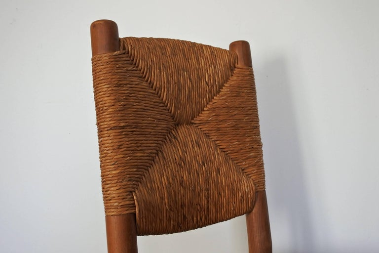 Charlotte Perriand Midcentury Bauche Chair No 19, France, 1950s 5
