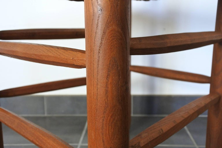 Charlotte Perriand Midcentury Bauche Chair No 19, France, 1950s 7