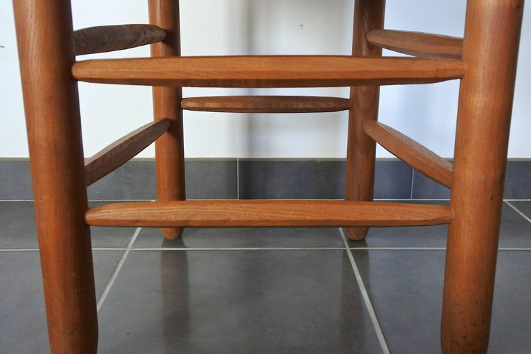 20th Century Charlotte Perriand Midcentury Bauche Chair No 19, France, 1950s For Sale