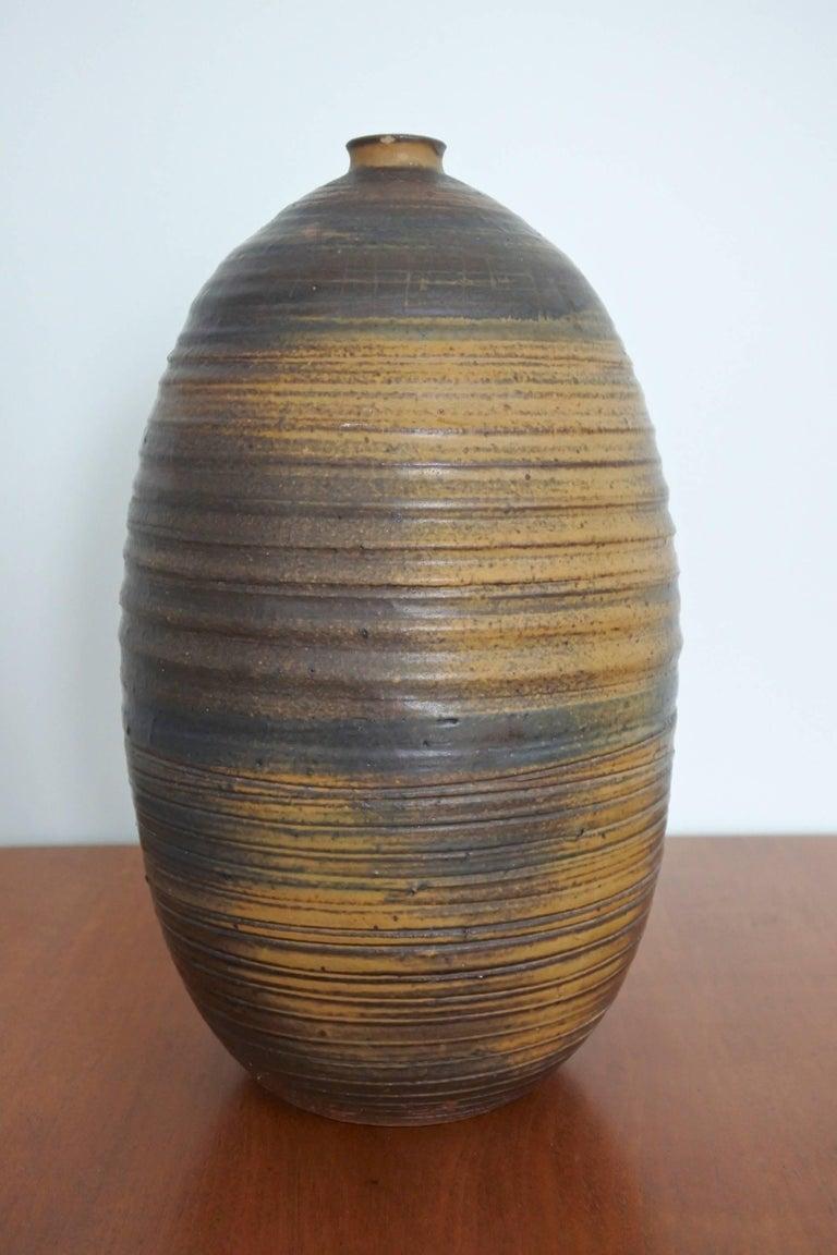 Mid-Century Modern Mid Century Large Studio Pottery Vase, USA 1960s For Sale